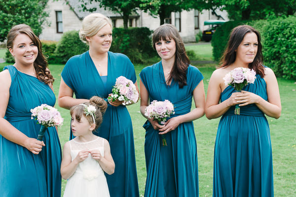 Quirky Fun Cafe Wedding Teal Bridesmaid Dresses http://struvephotography.co.uk/