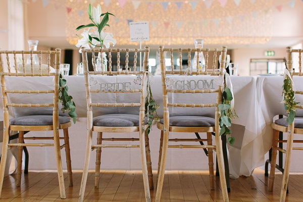 Quirky Fun Cafe Wedding Bride Groom Chair http://struvephotography.co.uk/