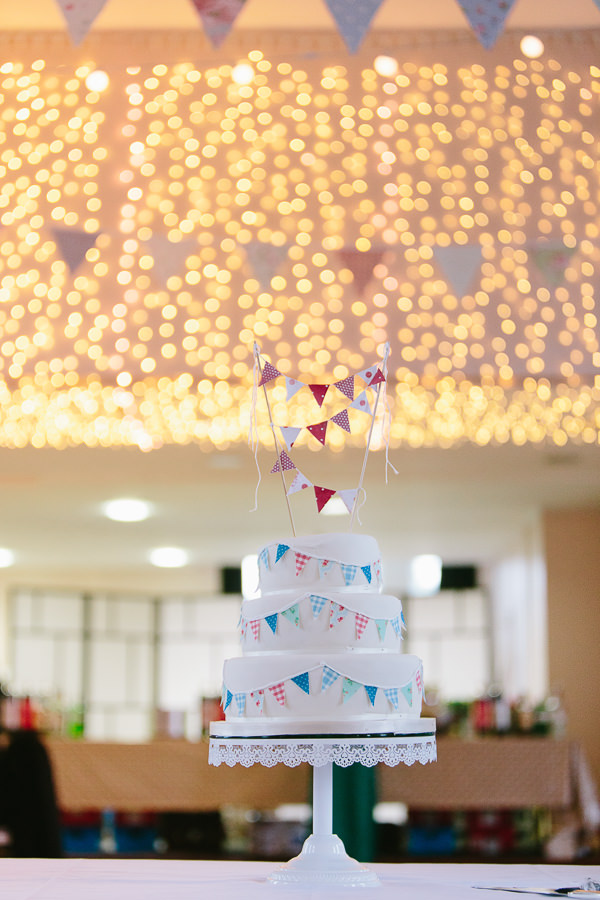 Quirky Fun Cafe Wedding Bunting Cake http://struvephotography.co.uk/