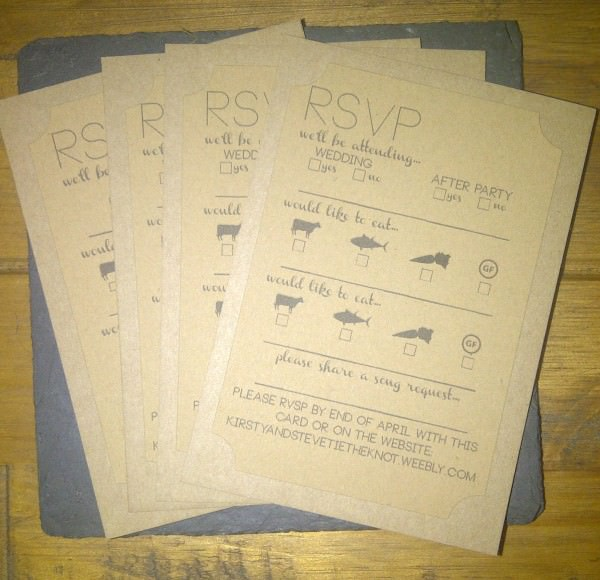 rsvp wedding stationery