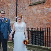 1920s Feel Literary Autumn City Wedding