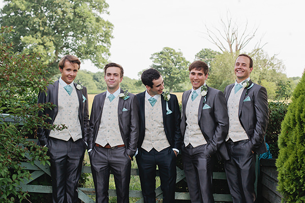 Happy Country Back Garden Wedding Moss Bros Groom http://www.samanthawardphotography.co.uk/