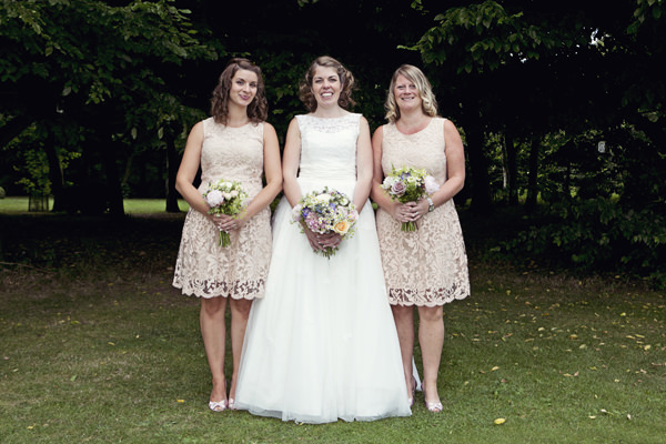 Cottage Garden Feel Cotswolds Wedding Peach Bridesmaid Dress http://www.suekwiatkowska.com/