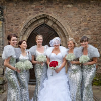 Silver White Sequin Winter Wedding http://www.alilovegrovephotography.com/