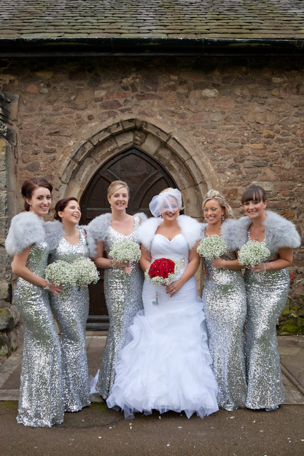 Silver & White Sequin Glamorous Winter Wedding