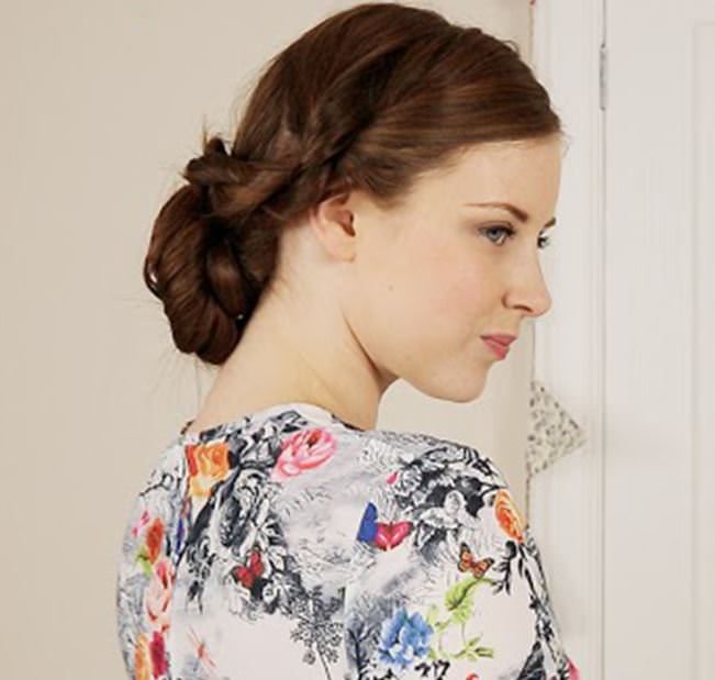 Pretty Bridal Up Do Hair Style DIY Tutorial