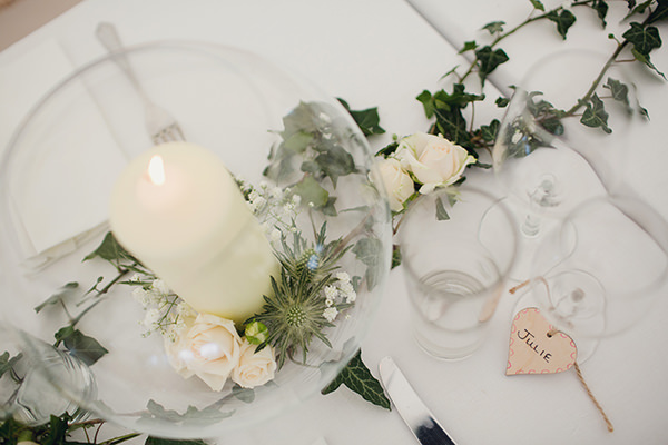 Bohemian Rustic Country Chic Wedding Candle Bowls Ivy http://www.lifelinephotography.co.uk/