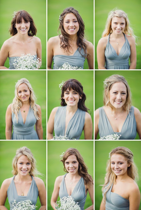 Bohemian Rustic Country Chic Wedding Bridesmaids Grey Green Dresses http://www.lifelinephotography.co.uk/
