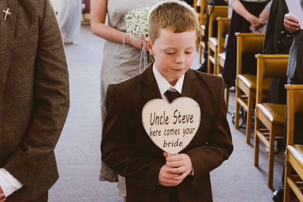 Bohemian Homespun Wedding Pageboy Sign http://www.nickmurrayphotography.co.uk/