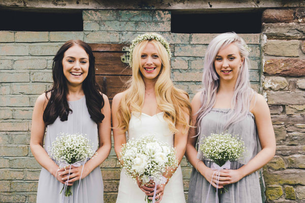 Bohemian Homespun Wedding Grey Bridesmaid Dresses http://www.nickmurrayphotography.co.uk/