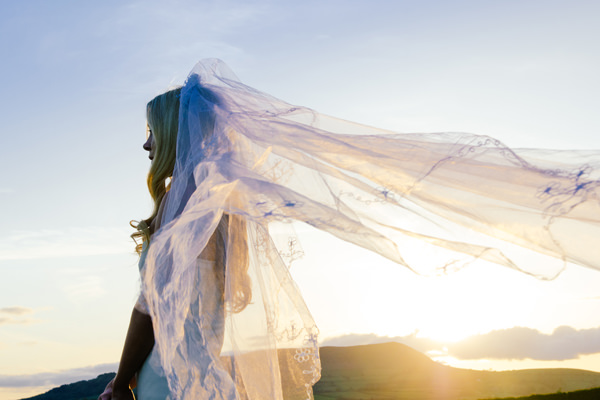 Bohemian Homespun Wedding Veil Bride http://www.nickmurrayphotography.co.uk/