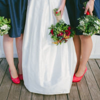 Dark Blue Dresses Bridesmaids http://www.lisadevinephotography.co.uk/