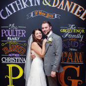 Wedding Signs Ideas & Inspiration. From Rustic Wooden Posts to Blackboard Backdrops.