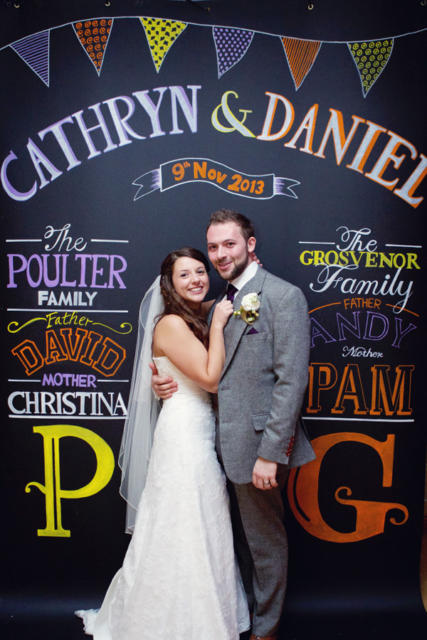 Wedding Blackboard Backdrop Sign http://www.lydiastampsphotography.com/