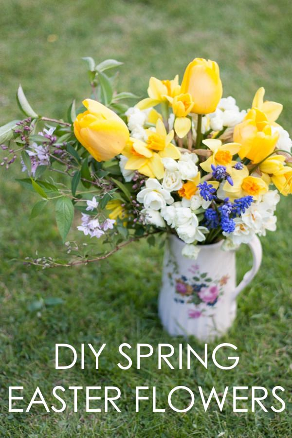 Diy Spring Easter Wedding Flowers Jug Tutorial