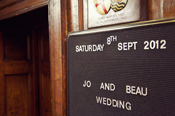Wedding Welcome Sign http://marthaandgeorge.com/