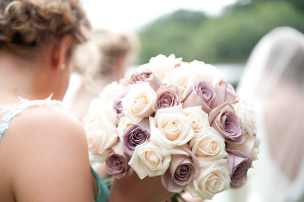 Elegant Art Deco Scottish Highlands Wedding Rose Bouquet http://www.brownsphoto.co.uk/