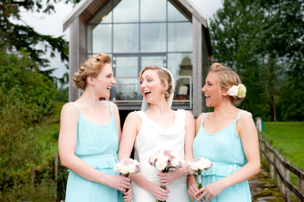 Elegant Art Deco Scottish Highlands Wedding Turquoise Bridesmaid Dresses http://www.brownsphoto.co.uk/