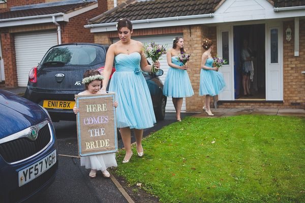 Relaxed Rustic Stylish Wedding Blue Bridesmaid Dresses http://www.bloomweddings.co.uk/