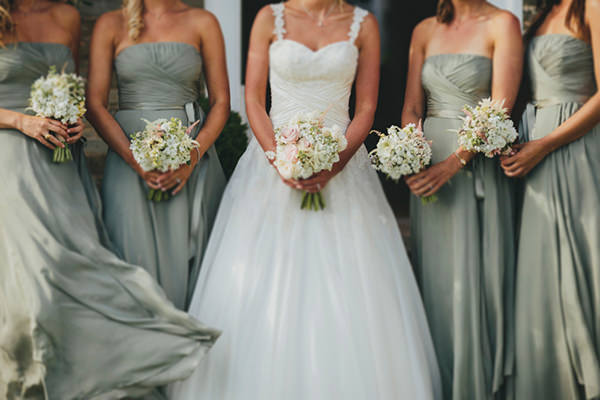 Beautiful Natural Countryside Wedding Green Bridesmaid Dresses http://www.benselwayphotography.co.uk/