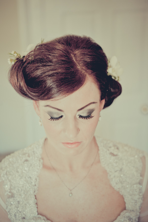 Silver Eyeshadow Bride Make Up http://www.helenrussellphotography.co.uk/