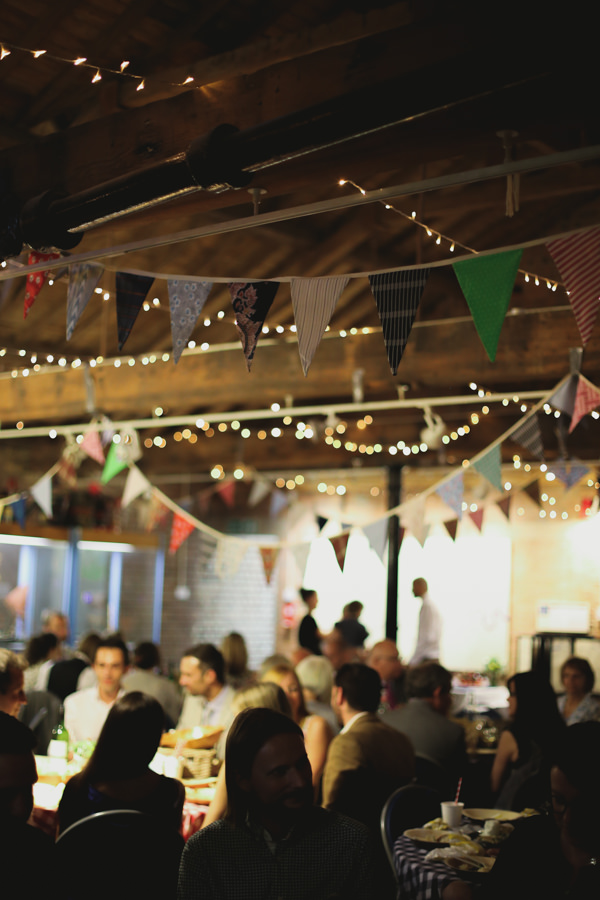Informal Canal London Museum Wedding Bunting Fairy Lights http://www.loveohlove.com/