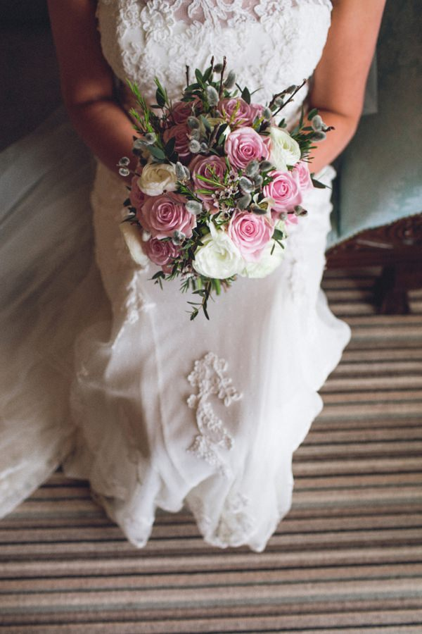 Pink Sage Beautiful Wedding Pink Rose Bouquet Bridal http://luciusfoxphotography.com/blog/