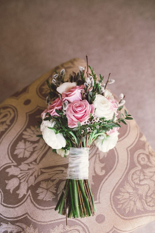 Pink Sage Beautiful Wedding Pink Ivory Bouquet Bridal Rose http://luciusfoxphotography.com/blog/