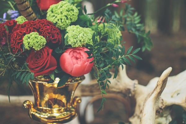 Woodland Wonderland Wedding Ideas Red Green Flowers http://www.jessicawitheyphotography.squarespace.com/