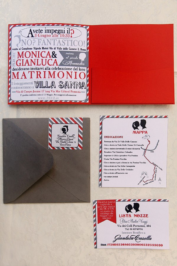 Wedding Stationery Ideas Bold Graphic Red http://www.fibrediluce.it/