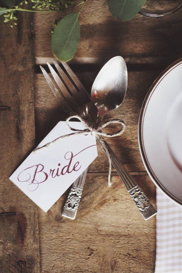 Fairy Treehouse Apple Wedding Ideas Cutlery Place Name Calligraphy http://paolacolleoni.com/