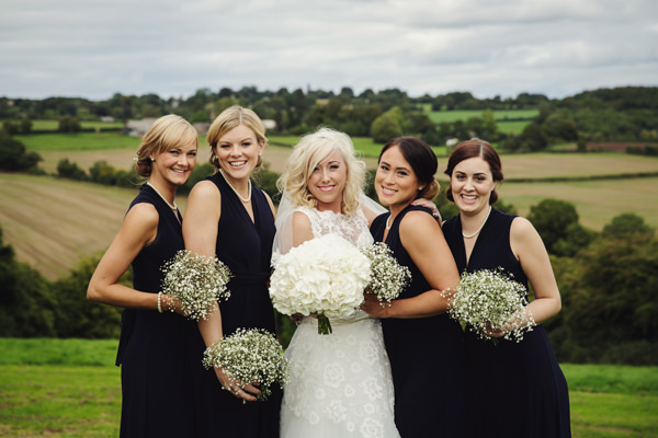 Monochrome Black Tie Bridesmaids Dresses Ideas http://www.gemmawilliamsphotography.co.uk/