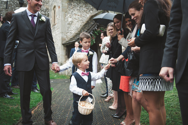 Rustic Stylish Great Fosters Wedding Pageboys Bow Ties Confetti http://karenflowerphotography.com/