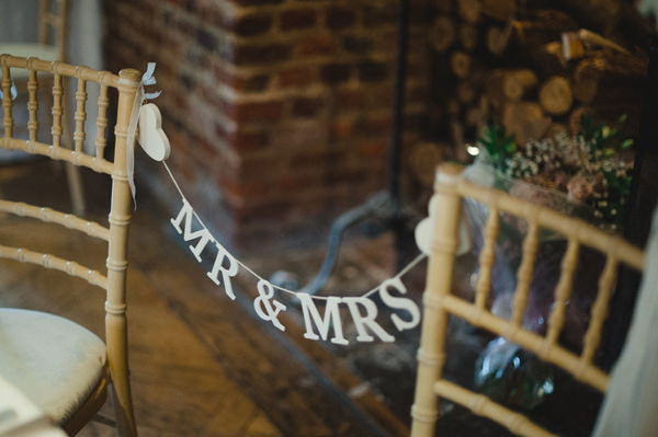 Rustic Stylish Great Fosters Wedding Mr Mrs Sign Chairs http://karenflowerphotography.com/