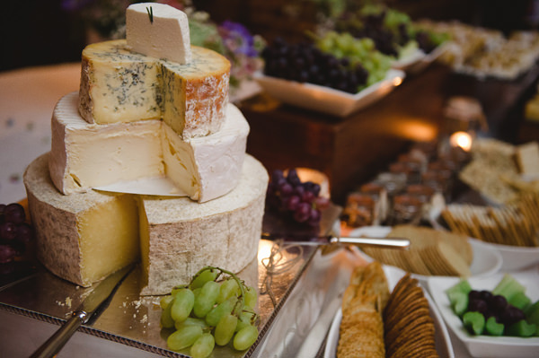 Rustic Stylish Great Fosters Wedding Cheese Tower http://karenflowerphotography.com/