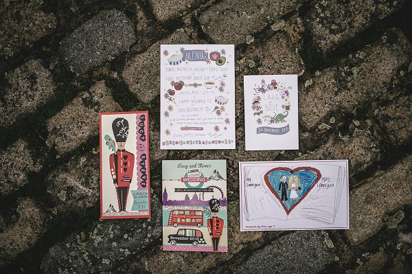 Quirky Wedding Stationery Invitations http://www.kat-hill.com/ http://story-house.co.uk/