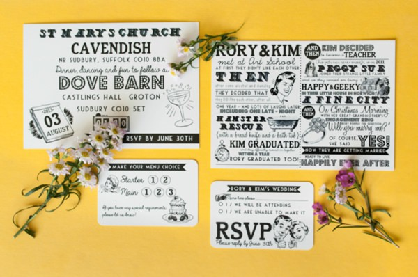 28 Wedding Invitation Ideas. From Quirky & Pretty to Rustic Unique Stationery | Whimsical ...