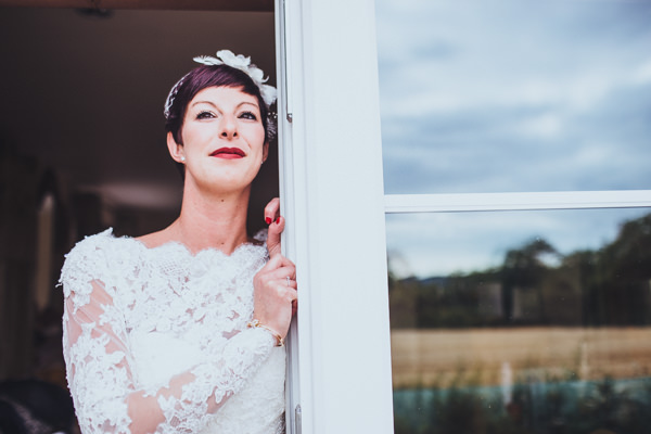 Vintage Colourful Windmill Wedding Short Cropped Hair Bride http://www.gavinphotography.co.uk/