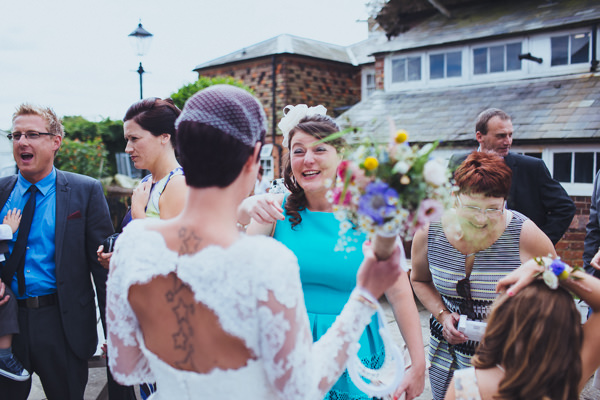 Vintage Colourful Windmill Wedding Lace Back Dress Bride http://www.gavinphotography.co.uk/