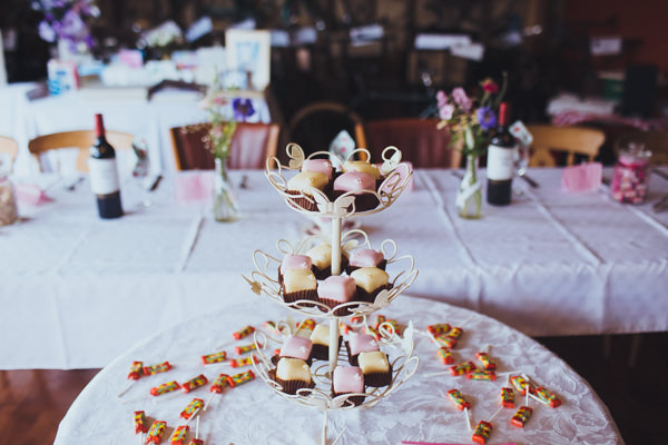 Vintage Colourful Windmill Wedding Fondant Fancies http://www.gavinphotography.co.uk/