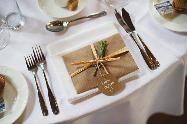Brown Paper Place Setting Names Wedding http://www.kkotkiewicz.co.uk/