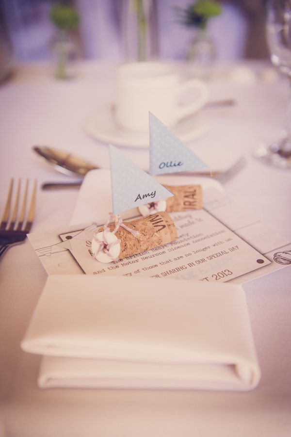 Cork Boat Place Names Setting Wedding Decor http://www.marcsmithphotography.com/