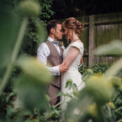 Whimsical Rustic Homemade Backgarden Barn Wedding
