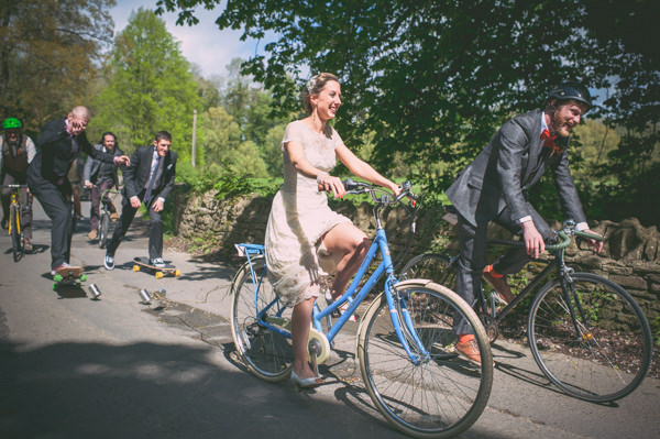Country Vintage Homemade Wedding Bicycles Skateboards http://www.sophieduckworthphotography.com/