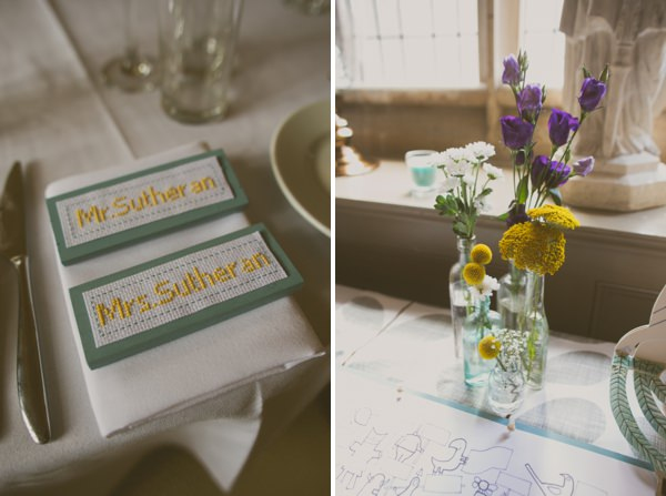 Wedding Cross Stitch Place Names Setting http://helenrussellphotography.co.uk/