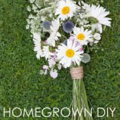 Homegrown Wedding Flowers. DIY Bridal Bouquet Tutorial
