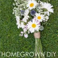 Homegrown DIY Wedding Bridal Bouquet Tutorial 28