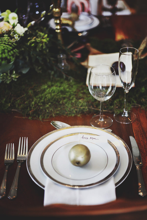 Opulent 1930s Country Manor Wedding Ideas Gold Place Setting http://cargocollective.com/darinastoda