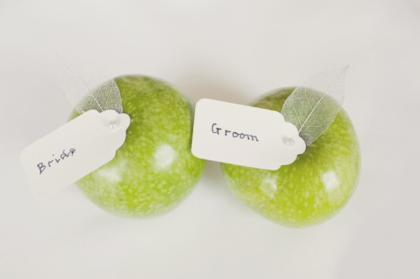 Apple Fruit Place Names Setting Wedding http://www.cottoncandyweddings.co.uk/