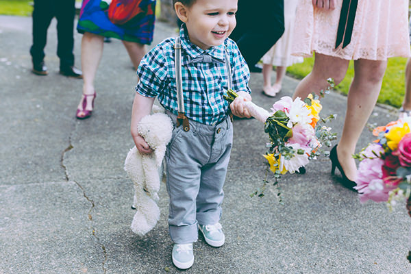 Eclectic Colourful Quirky Village Hall Wedding Pageboy http://missgen.com/